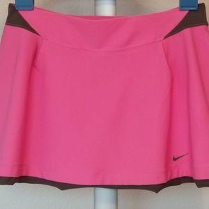 Nike NWT Womens Dri-Fit Tennis Skort Pink Gray Sm